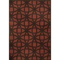 Miramar Rust/Brown Geometric Area Rug (7'10 x 10'0)
