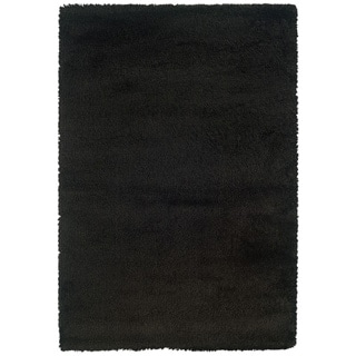 Manhattan Black Area Rug (5'3 x 7'9)