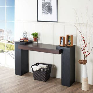 dining room storage cabinets. Furniture of America Modal Two tone Console Table Buffets  Sideboards China Cabinets For Less Overstock com