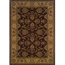 Ellington Brown/Beige Traditional Area Rug (5'3 x 7'6)