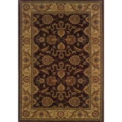 Ellington Brown/Beige Traditional Area Rug (6'7 x 9'6)