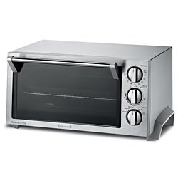 Delonghi EO1270 1400W 0.5 Cu. Ft. Stainless Steel Convection Toaster Oven