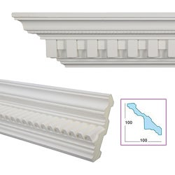 Dentil Rope 5.6-inch Crown Molding