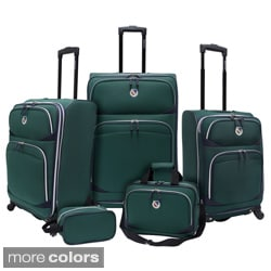 Beverly Hills Country Club BH2200 San Vincente 5-piece Expandable Spinner Luggage Set