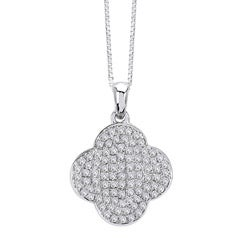 14k White Gold 1/3ct TDW Diamond Necklace (G-H, I1-I2)