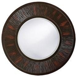 Oak Park Round Brown Mirror