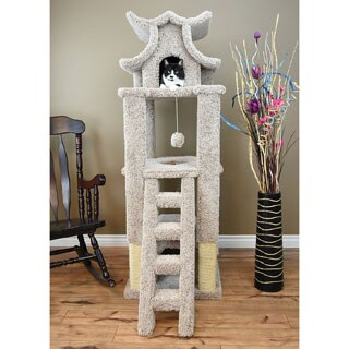 New Cat Condos Brown Carpet/Jute/Sisal Rope/Wood Designer Cat Pagoda