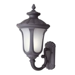 Woodbridge Lighting Westbrook 1-light Powdered Rust Large Outdoor Wall Light