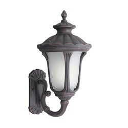 Woodbridge Lighting Westbrook 1-light Powdered Rust Medium Outdoor Wall Light