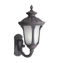 Woodbridge Lighting 61022WL-RTP Westbrook 1-light Medium Outdoor Wall Light, Powdered Coat Rust