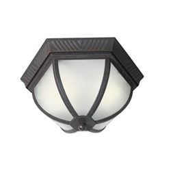 Woodbridge Lighting Glenwood 2-light Powdered Rust Outdoor Flush Mount