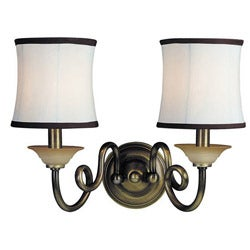 Woodbridge Lighting Mayfield 2-light Classic Brass Wall Sconce