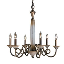 Woodbridge Lighting Mayfield 6-light Classic Brass Chandelier - Thumbnail 0