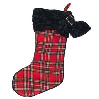 Selections by Chaumont Christmas Plaid Stocking