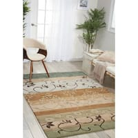 """Nourison Hand-tufted Contours Green Area Rug (5' x 7'6) - 5' x 7'6"""""""