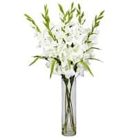 Cylinder Vase Large Gladiola Floral Arrangement
