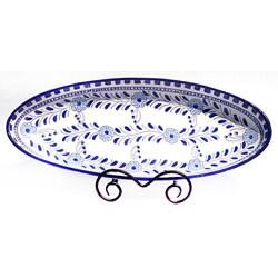 Azoura Design 21-in Large Oval Platter (Tunisia)