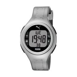 Puma Unisex 'Pulse' Metallic Silvertone Digital Heart Monitor Watch