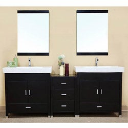 Visconti Wooden 80.7-inch Double Bathroom Vanity
