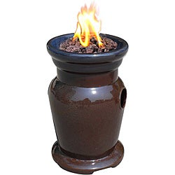 Shop Cagney Ceramic Rust Propane Tabletop Fire Bowl Free Shipping Today Overstock