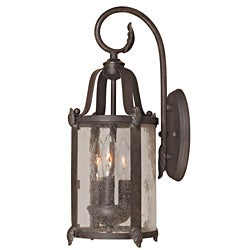 World Imports 'Old Sturbridge' 3-light Outdoor Wall Lantern