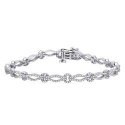 10k White Gold 1ct TDW Diamond Bracelet (H-I, I1-I2)