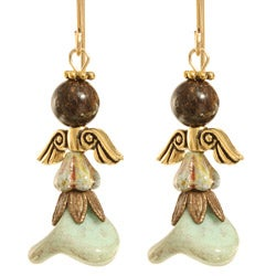 14k Gold Fill 'Kutiel' Angel Earrings