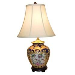 Royal Medallion Ginger Jar Porcelain Table Lamp