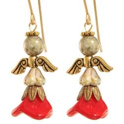 'Yofiel' 14k Gold Fill Angel Earrings