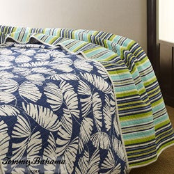 Shop Tommy Bahama Seaside Palms King Size 3 Piece Quilt