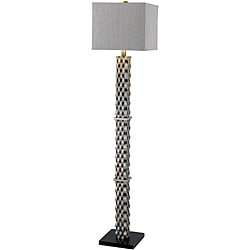 Herndon 60 in aged silver finish floor lamp free for Overstock silver floor lamp