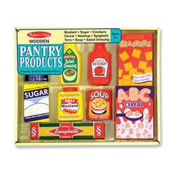 Melissa & Doug Wooden Pantry Products Play Set
