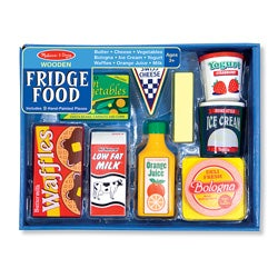 Melissa and Doug Wooden Fridge Food Play Set