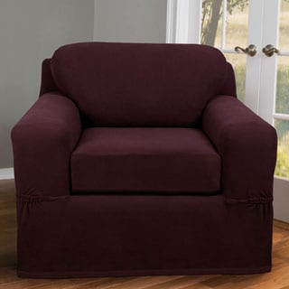 Stretch Pixel Chair 2-piece Slipcover