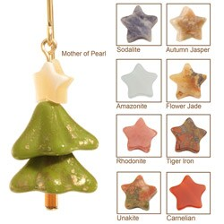 14k Gold Fill 'Merry Christmas' Tree Earrings