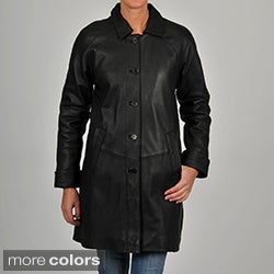 Excelled Women's Leather 3/4-length Jacket