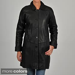 Excelled Women's Leather 3/4-length Jacket|https://ak1.ostkcdn.com/images/products/P13929085a.jpg?impolicy=medium