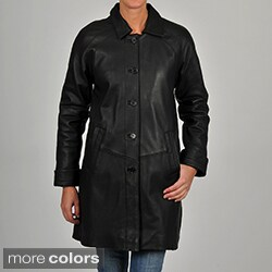 Excelled Women's Leather 3/4-length Jacket (2 options available)