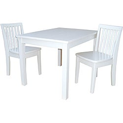 Juvenile Mission Linen White 3-pc Table and Chairs Set
