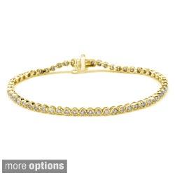 Auriya 14k Gold 4ct TDW Diamond Tennis Bracelet (I-J, I1-I2)