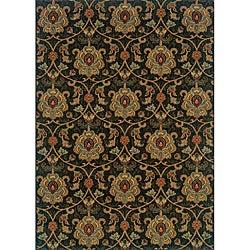 "Berkley Green/ Beige Traditional Area Rug (9'10 x 12'9) - 9'10"" x 12'9"" - Thumbnail 0"