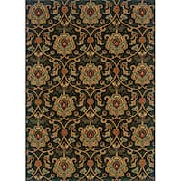 "Berkley Green/ Beige Traditional Area Rug (9'10 x 12'9) - 9'10"" x 12'9"""