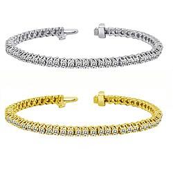 14k Gold 4ct TDW Diamond Tennis Bracelet (I-J, I1-I2)