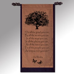 John Wesley 'Do All the Good You Can' Cotton Scroll (Indonesia)