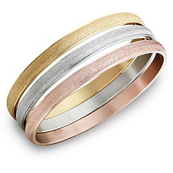 Stainless Steel Stackable 3-pc Bangle Bracelet Set By Ever One