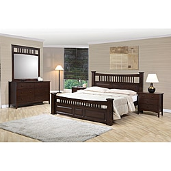 Shop equator mission style queen size 5 piece bedroom set free shipping today overstock for Queen mission style bedroom set