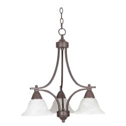 Three-light Pewter Down Chandelier - Thumbnail 0