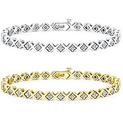 14K Gold 1ct TDW Diamond Tennis Bracelet