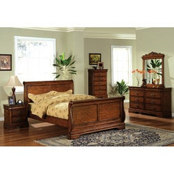 Furniture of America Venice Dark Oak Finish 5-piece Queen-size Bed Set