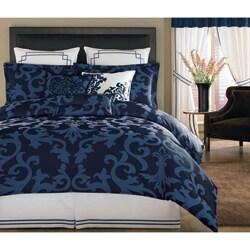 Thumbnail 1, Avalon Navy King-size 3-piece Comforter Set.